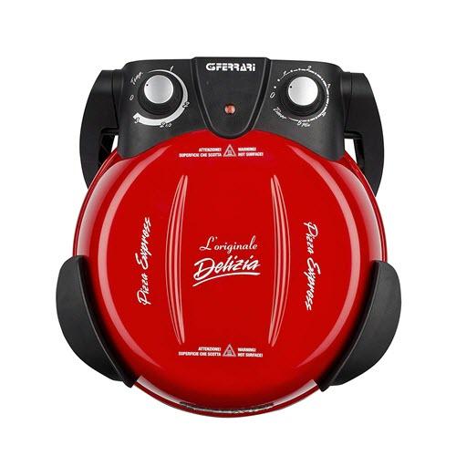 Four à Pizza éléctrique G3 Ferrari vu du dessus avec son minuteur et son thermostat