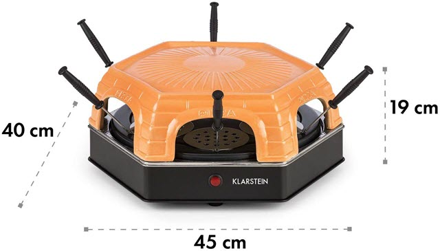 Dimensions du mini four à pizza Klarstein Capricciosa