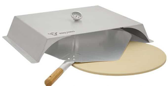 BBQ-Toro - Four à pizza pour barbecue à gaz - Acier inoxydable - 56 x 39 cm - Accessoire à pizza avec thermomètre - Avec pierre et pelle à pizza