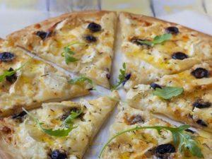 pizza crème fraîche